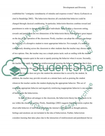 Development and Diversity essay example