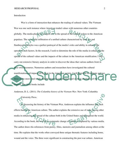 Research Paper proposal & annotated bibliography