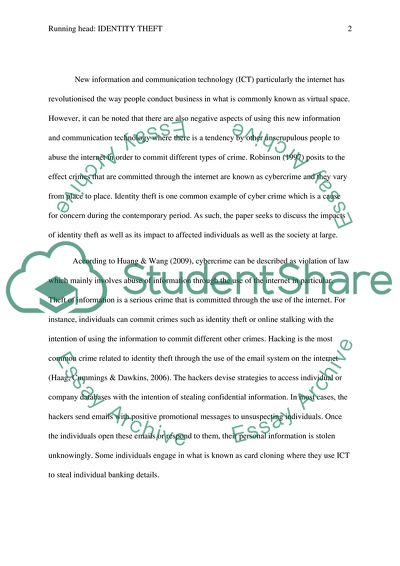 identity theft essay introduction