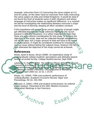 Research proposal Masters in Education