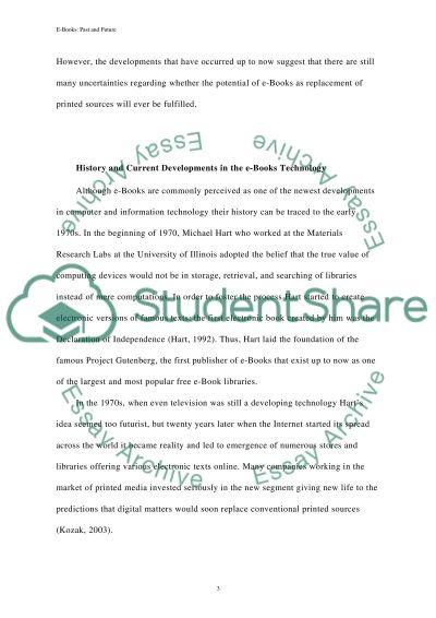 Ebooks - Past, present and future essay example