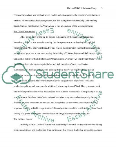 Harvard MBA admission essays essay example