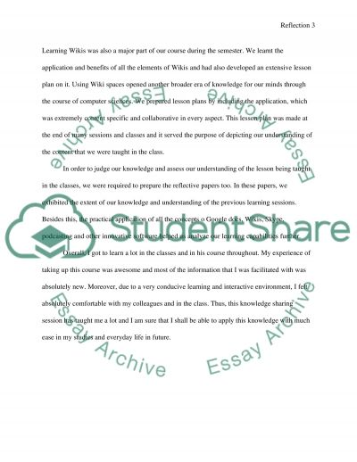 The session of learning the digital content essay example
