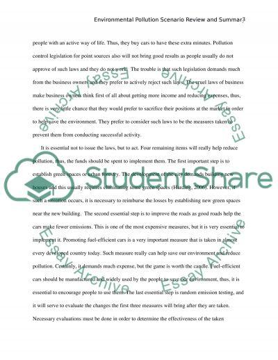 environmental pollution scenario review and summary research paper environmental pollution scenario review and summary essay example
