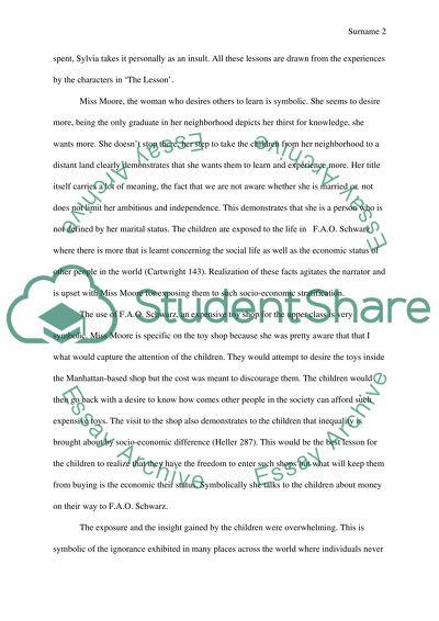 The lesson essay