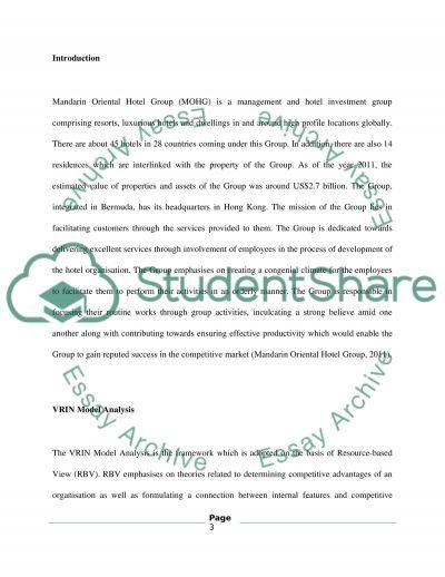 MOHG3 essay example