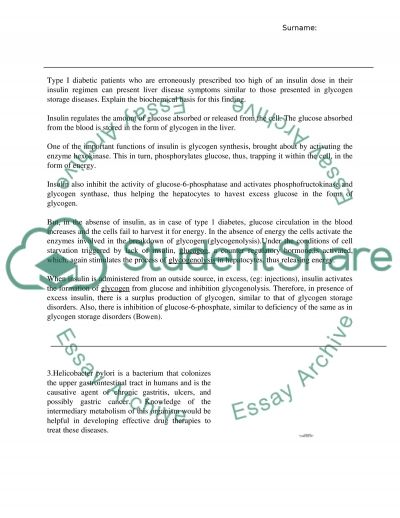 Biochemistry essay example