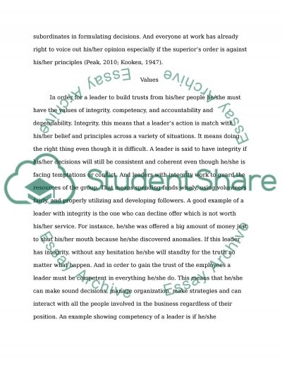 Work Perspectives essay example