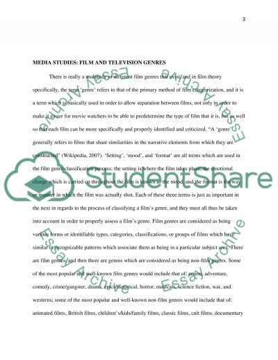 Film and Television Genres essay example