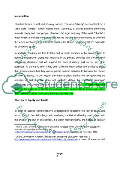 Equity & Trusts Coursework (Final Year LLB Law)