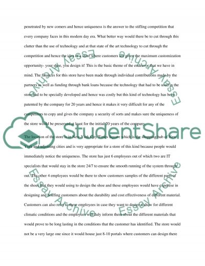 Style Shoe Store essay example