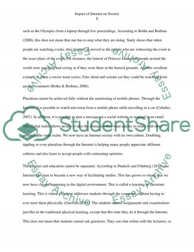 research papers internet impact on society Find and download essays and research papers on impact internet society.
