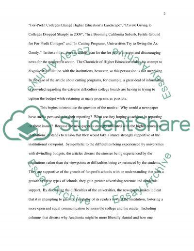 Analyze a news paper essay example