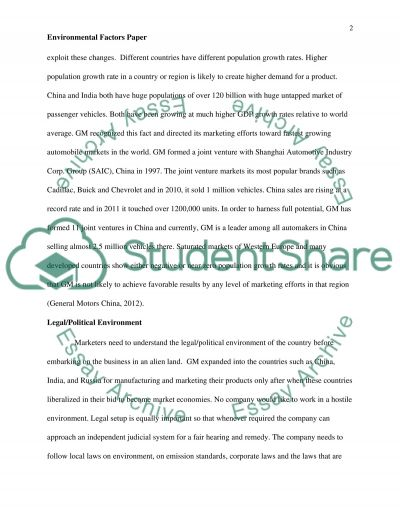Environmental Factors Paper essay example