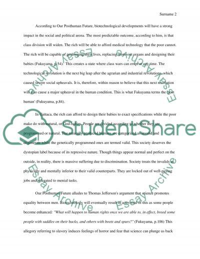 Genetic Engineering Paper essay example