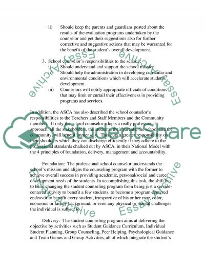 School Guidance essay example
