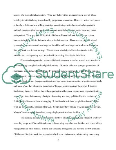 Position Paper- Develop an argument for who should decide how and what children are taught essay example