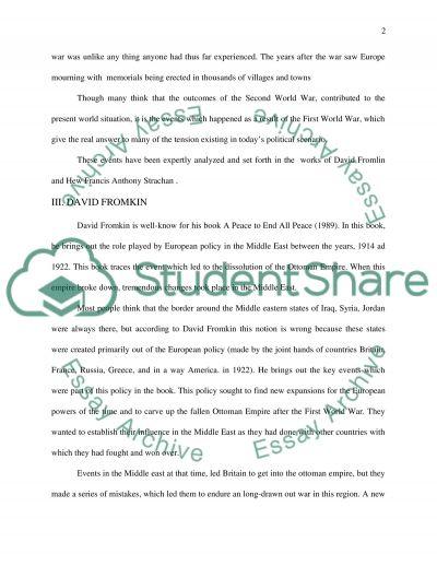First World War Bachelor Essay essay example
