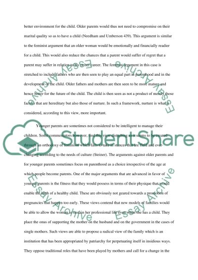 older parents and younger parents essay example topics and well older parents and younger parents essay example