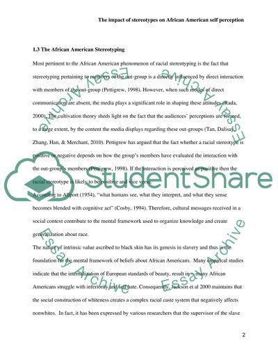 Stereotype essays
