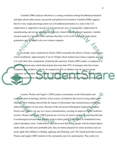 Digital Divide and its Consequences essay example