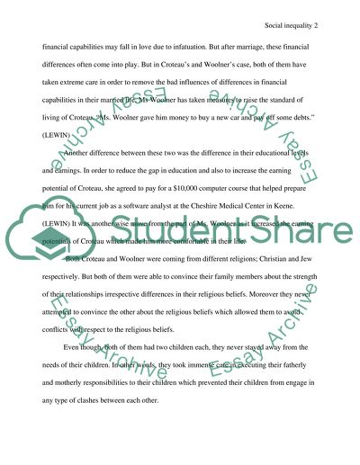 social inequality essay example  topics and well written essays  social inequality