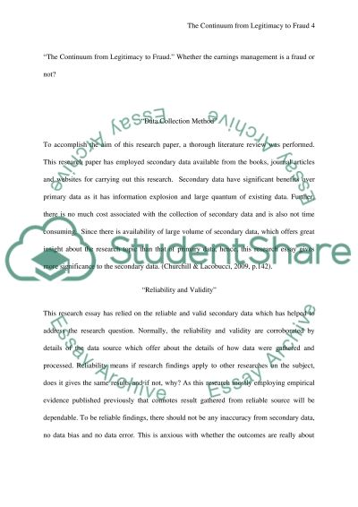 earnings management research paper