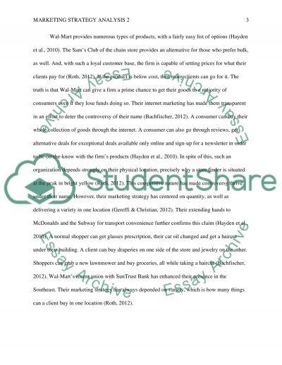 Marketing Strategy Analysis 2 essay example