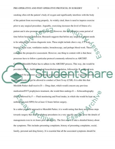 Scenario Exam essay example