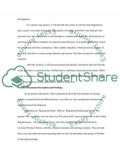 RN/Diploma/BSc (Hons) Nursing - Adult, Module 3, Assessment Practice Reflection, Type Summative