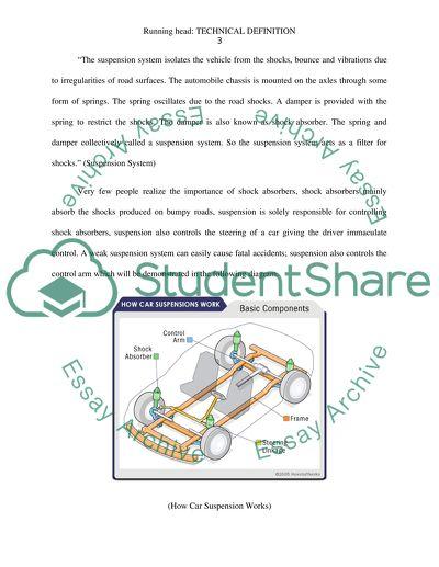Technical Definition and Description