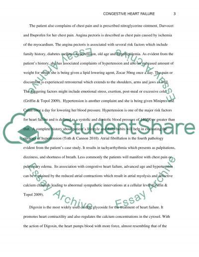 Congestive Heart Failure essay example