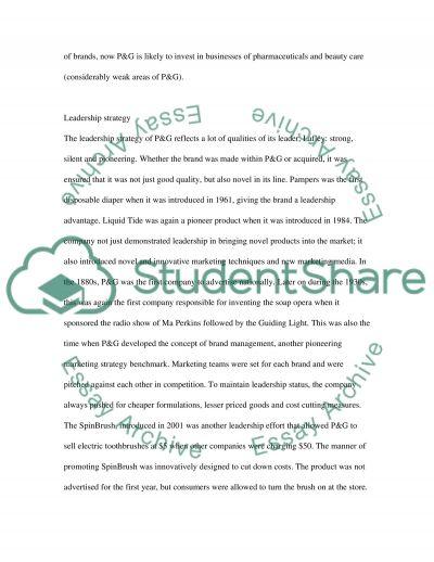 Marketing Strategies of P&G essay example