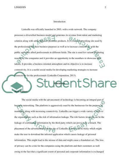 Linkedln essay example