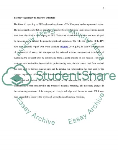 Report to the Board of Directors - 3M Company essay example