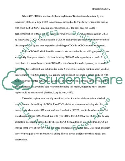 Dna replication research paper