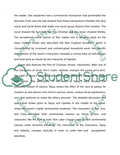 Uncle Toms Cabin and Surfacing essay example