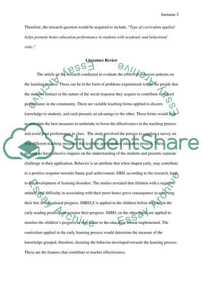 EDU 532: Research Analysis