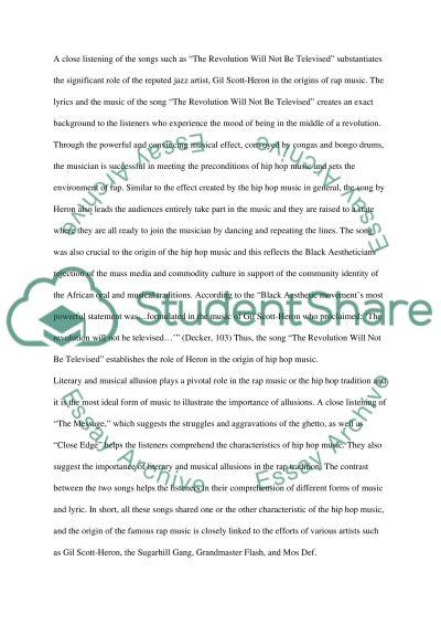 Hip Hop and Rap essay example