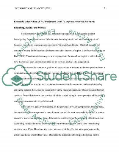 Economic Value Added essay example