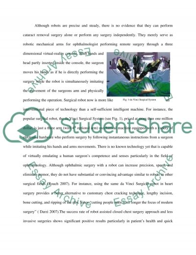 Robots in Ophthalmology essay example