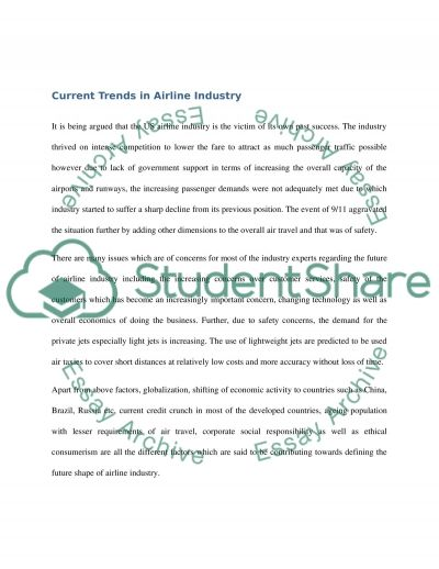 The Future of airlines essay example