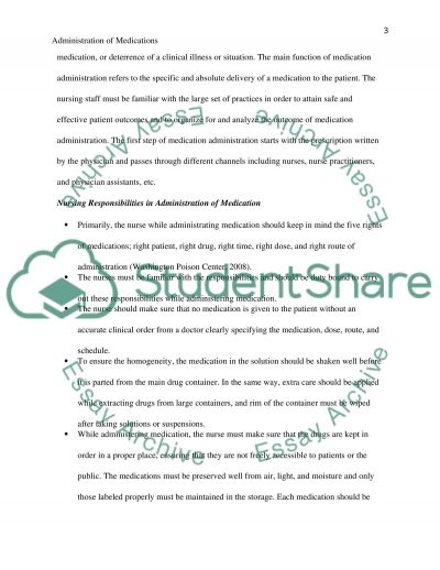 Administration of Medications essay example