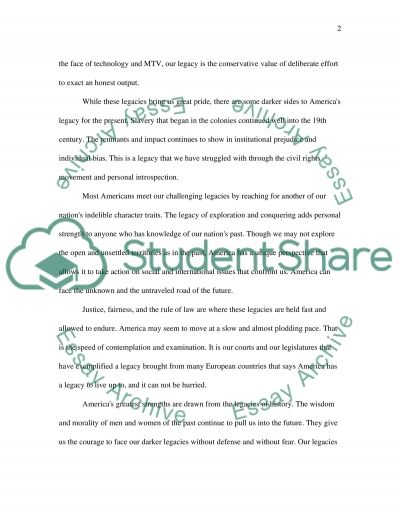 The Legacy of a Nation essay example