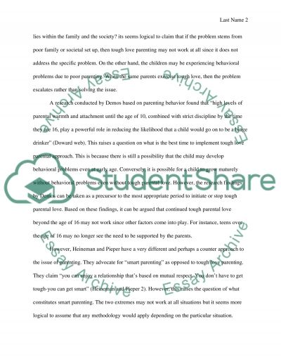 parenting research paper Academiaedu is a platform for academics to share research papers skip to main content log  since the influence of authoritative parenting style .