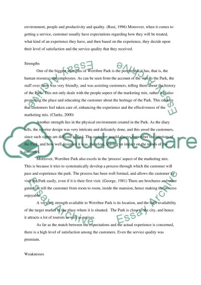 Service and Relationship: essay example