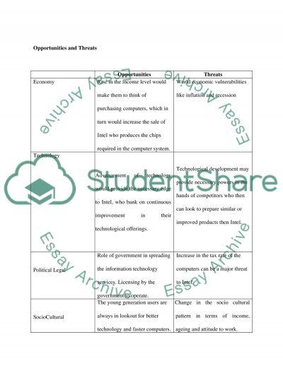 Macro Environment: INTEL CORPORATION essay example