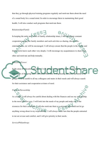 PERSONAL ETHICAL DEVELOPMENT EXERCISE essay example