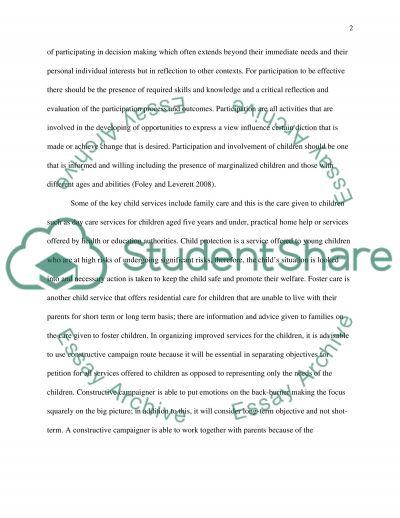 Education Children Services Analysis