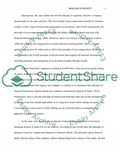 Research Project essay example